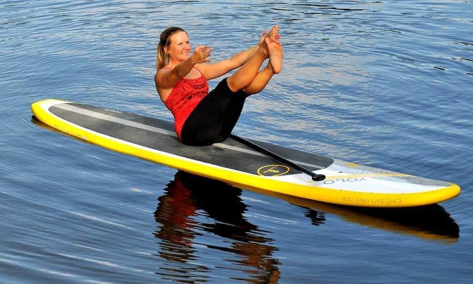 Boat Paddleboard Yoga Pose